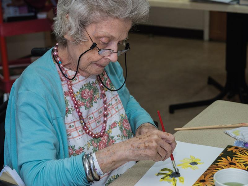 Fernclif senior doing crafts
