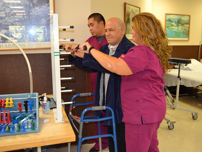 Carmel Richmond nurse working with a senior