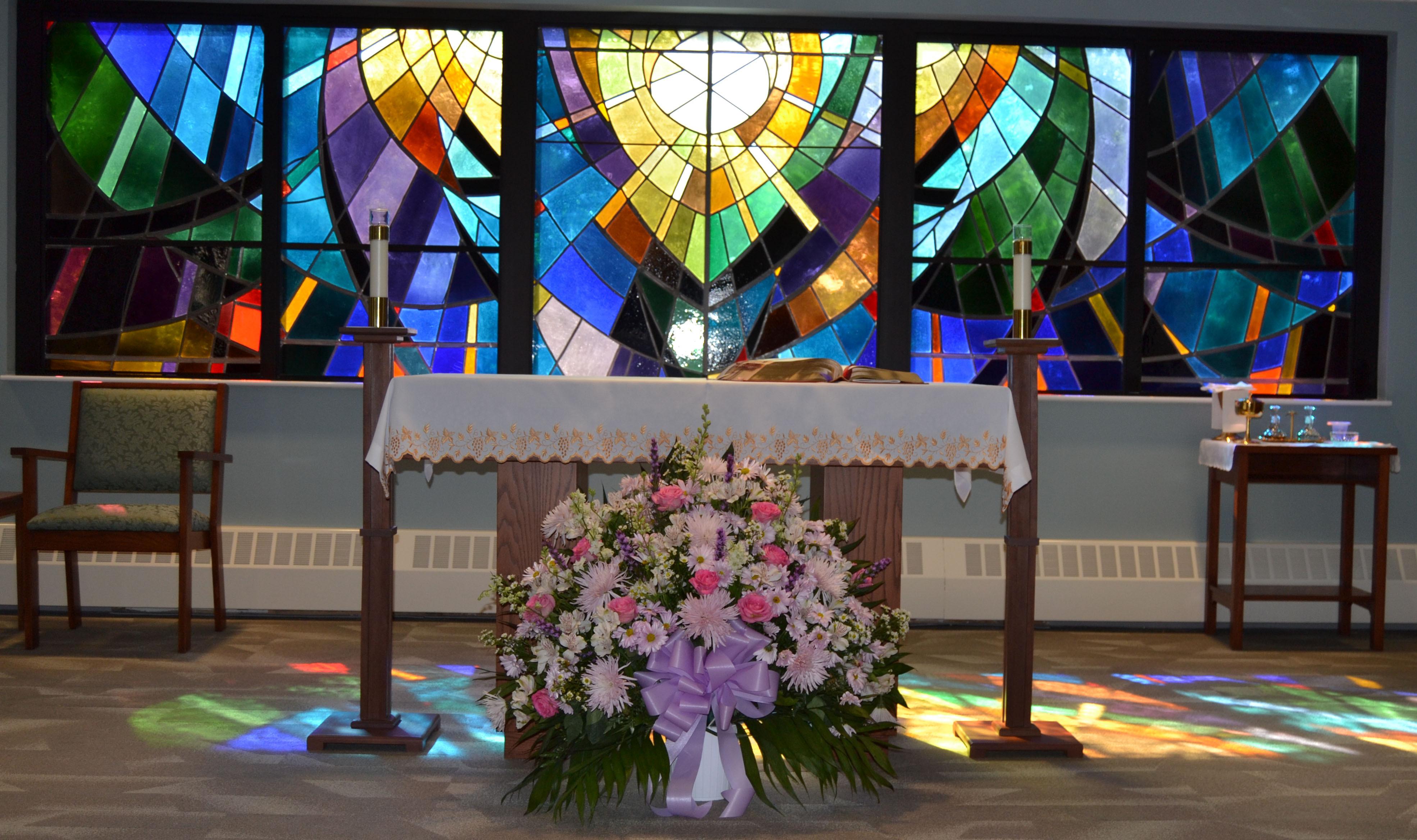 Carmel Richmond stained glass window